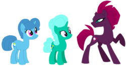 Size: 1765x916 | Tagged: artist:徐詩珮, base used, broken horn, female, fizzlepop berrytwist, gameloft, glitter drops, horn, my little pony: the movie, safe, spring rain, tempest shadow, tempest shadow's friends, unicorn
