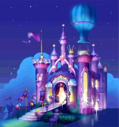 Size: 321x341   Tagged: safe, pony, dancing in the clouds, g3, background, castle, night, sd entertainment