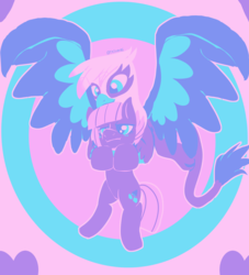 Size: 2980x3284 | Tagged: artist:tkitten16, blushing, flying, gilda, gildastone, griffon, grumpy, holding a pony, limestone pie, limited palette, pony, safe, shipping, signature, smiling, wings