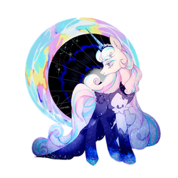 Size: 1240x1240 | Tagged: safe, artist:hotaruto02, artist:廢海夜權, pony, unicorn, clothes, cookie run, cosplay, costume, crown, female, jewelry, moonlight cookie, not flurry heart, ponified, regalia, solo, stylized