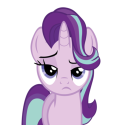 Size: 894x894 | Tagged: artist:elhombre1994, looking at you, pony, safe, simple background, starlight glimmer, starlight is not amused, .svg available, transparent background, unamused, vector