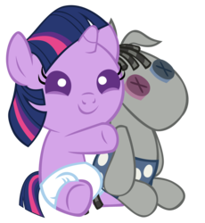 Size: 3893x4232 | Tagged: safe, artist:bronyboy, smarty pants, twilight sparkle, pony, baby, babylight sparkle, cute, daaaaaaaaaaaw, diaper, female, filly, happy, hnnng, simple background, smiling, transparent background, twiabetes, vector, younger
