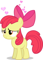 Size: 3087x4285 | Tagged: adorabloom, apple bloom, artist:tomfraggle, cute, earth pony, female, filly, floating heart, heart, pony, safe, simple background, solo, transparent background