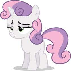 Size: 3344x3339 | Tagged: alternate version, artist:tomfraggle, female, filly, pony, safe, simple background, solo, sweetie belle, transparent background, unicorn