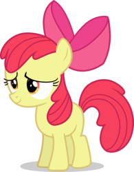 Size: 3074x3931 | Tagged: alternate version, apple bloom, artist:tomfraggle, female, filly, high res, pony, safe, simple background, smiling, solo, transparent background