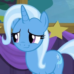 Size: 500x500 | Tagged: safe, screencap, trixie, pony, unicorn, no second prances, cropped, female, mare, solo