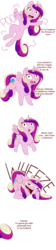 Size: 1000x4469 | Tagged: safe, artist:evehly, princess cadance, alicorn, pony, :o, belly button, cadance laughs at your misery, cloud, comic, dialogue, female, floating wings, hearts and hooves day, holiday, implied sex, implied shining armor, laughing, looking at you, mare, meme, missing accessory, mocking, open mouth, poof, princess bitchdance, princess of love, raised hoof, simple background, smiling, solo, spread wings, teleportation, text, trolling, valentine's day, wheeze, white background, wide eyes, wings