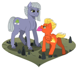 Size: 9549x8398 | Tagged: safe, artist:faitheverlasting, limestone pie, short fuse, pony, absurd resolution, crack shipping, female, heart, hearts and hooves day, holiday, limefuse, male, shipping, simple background, straight, transparent background, valentine's day