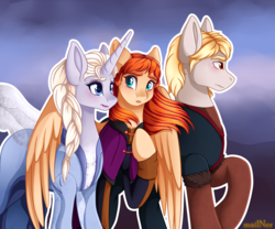 Size: 3000x2500 | Tagged: artist:mailner, blushing, clothes, crossover, frozen 2, frozen (movie), horn, lipstick, makeup, parody, ponified, pony, safe, scene interpretation, scene parody, that was fast, wings