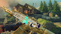 Size: 1920x1080   Tagged: safe, rarity, black ops 4, call of duty, camouflage, custom, cutie mark, diamond, gun, gunified, personalized weapon, solo, vapr-xkg, weapon