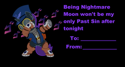 Size: 2354x1272 | Tagged: alicorn, alicorn oc, artist:niggerfaggot, black background, dab, holiday, jojo, meme, ms paint, oc, oc:nyx, oc only, safe, simple background, valentine card, valentine's day