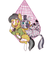 Size: 1450x1659 | Tagged: safe, artist:jackiebloom, daring do, zecora, pegasus, pony, zebra, alternate design, blaze (coat marking), daringcora, female, interspecies, lesbian, shipping, socks (coat marking)