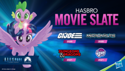 Size: 1280x720 | Tagged: alicorn, allspark pictures, dragon, dungeons and dragons, g.i. joe, hasbro, hasbro logo, meta, micronauts, movie, my little pony, my little pony: the movie, my little pony: the movie 2, official, paramount pictures, pen and paper rpg, pony, pony history, rpg, safe, slide, spike, toy fair, toy fair 2019, twilight sparkle, twilight sparkle (alicorn)