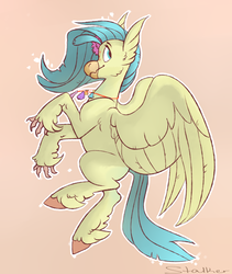 Size: 1353x1600   Tagged: safe, artist:dragonstalk, princess skystar, classical hippogriff, hippogriff, my little pony: the movie, cute, female, no catchlights, profile, seashell necklace, skyabetes, solo, sweet dreams fuel