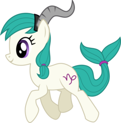 Size: 999x1017 | Tagged: artist:chipmagnum, capricorn, female, pony, ponyscopes, safe, simple background, solo, transparent background, vector