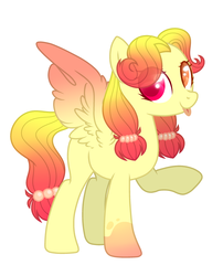Size: 2337x2889 | Tagged: artist:dashblitzfan4ever, female, mare, oc, pegasus, pony, safe, simple background, solo, tongue out, white background