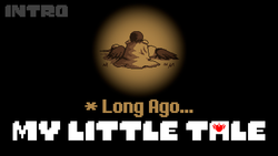 Size: 1280x720 | Tagged: safe, artist:crusader productions, alicorn, alternate timeline, alternate universe, cape, clothes, crossover, introduction, kneeling, lying down, my little tale, thumbnail, undertale, undertale title font, youtube link