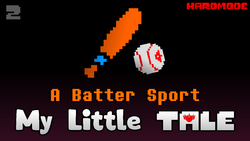 Size: 1280x720 | Tagged: alicorn amulet, alternate timeline, alternate universe, artist:crusader productions, baseball, baseball bat, crossover, link in description, my little tale, safe, sports, thumbnail, undertale, undertale title font
