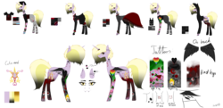 Size: 9921x4818 | Tagged: safe, artist:moonlight0shadow0, dinky hooves, pony, spider, unicorn, icey-verse, absurd resolution, alternate hairstyle, badge, beanie, belt, blood, boots, bracelet, choker, clothes, collar, commission, dog tags, dress, ear piercing, earring, edgy, edgy as fuck, eyeball, eyebrow piercing, eyeliner, eyeshadow, female, fingerless gloves, fire, fishnets, flower, gloves, goth, hat, headcanon, heart, hoodie, horn ring, jacket, jeans, jewelry, leather jacket, lip piercing, makeup, mare, mascara, necklace, nose piercing, nose ring, nylon, older, older dinky hooves, older headcanon, pants, pentagram, piercing, pins, punk, reference sheet, rose, shirt, shoes, signature, simple background, skirt, skull, socks, solo, spiked choker, spiked collar, stockings, striped socks, sweatpants, t-shirt, tanktop, tattoo, thigh highs, torn clothes, transparent background, wings, wristband, zettai ryouiki