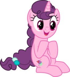 Size: 4589x5059 | Tagged: absurd res, artist:tomfraggle, cute, cutie mark, female, happy, mare, pony, safe, simple background, sitting, solo, sugar belle, sugarbetes, transparent background, unicorn