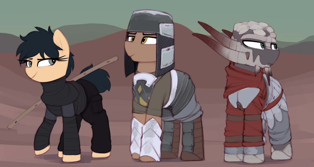 1964187 - armor, artist:shinodage, clothes, desert, earth pony