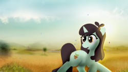 Size: 5120x2880 | Tagged: artist:startledflowerpony, las pegasus resident, pony, safe, solo, sprout greenhoof, unicorn