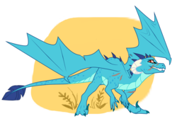 Size: 1023x700 | Tagged: safe, artist:glitchthunder, princess ember, dinosaur, dragon, velociraptor, dinosaurified, dragoness, female, looking at you, scar, simple background, solo, species swap, spread wings, transparent background, wings