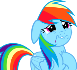 Size: 7649x6982 | Tagged: safe, artist:orbitalxd, rainbow dash, pony, parental glideance, absurd resolution, crying, female, sad, simple background, solo, transparent background, vector