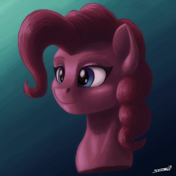 Size: 1500x1500 | Tagged: artist:sa1ntmax, bust, gradient background, pinkie pie, pony, portrait, safe, solo
