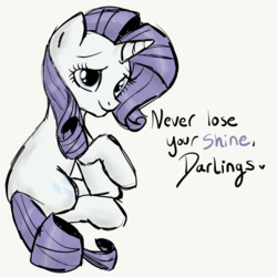 Size: 2100x2100 | Tagged: artist:sjart117, end of g4, end of ponies, final season, last season, looking at you, looking back, pony, rarity, safe, season 9, simple background, sketch, solo, speech, the end, unicorn, white background