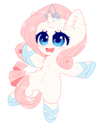Size: 2000x2500   Tagged: safe, artist:etoz, oc, oc only, oc:crystal dancer, unicorn, bipedal, blue eyes, blushing, chibi, clothes, crown, cute, female, jewelry, mare, open mouth, regalia, request, requested art, shoes, simple background, solo, transparent background