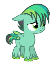 Size: 1052x1278 | Tagged: safe, artist:bolivianite, oc, oc:turquoise blast, pegasus, pony, base used, colored wings, colored wingtips, floppy ears, magical lesbian spawn, offspring, parent:rainbow dash, parent:spitfire, parents:spitdash, simple background, solo, unshorn fetlocks, white background