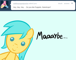 Size: 1280x1024 | Tagged: artist:datahmedz, ask, chibi, pony, raindropsanswers, safe, solo, sunshower raindrops, tumblr