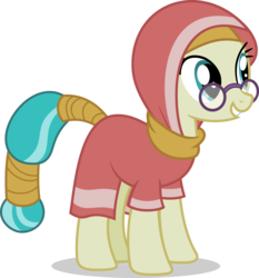 Size: 5000x5376 | Tagged: absurd res, artist:luckreza8, clothes, daring done?, desert flower, hijab, pony, safe, simple background, smiling, solo, somnambula resident, transparent background, vector