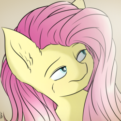 Size: 2600x2600 | Tagged: artist:maneingreen, cheek fluff, ear fluff, fluffy, fluttershy, pegasus, pony, safe, solo