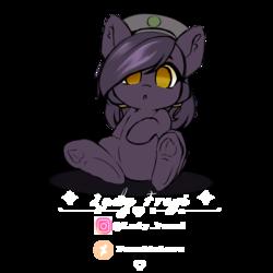 Size: 4000x4000 | Tagged: safe, artist:ladyfrezi, oc, oc only, oc:mir, pegasus, pony, beret, chibi, ear fluff, female, hat, simple background, solo, transparent background
