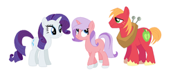 Size: 1200x544 | Tagged: safe, artist:mlpmagicponies, big macintosh, rarity, pony, female, male, offspring, parent:big macintosh, parent:rarity, parents:rarimac, rarimac, shipping, straight