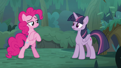 Size: 1920x1080 | Tagged: alicorn, bipedal, clone, confident, crossed hooves, everfree forest, mean twilight sparkle, pinkie pie, proud, safe, screencap, spoiler:s08e13, the mean 6
