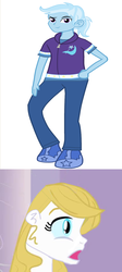 Size: 789x1759 | Tagged: artist:drewmwhit, bluetrix, editor:jdueler11, equestria girls, equestria girls-ified, female, male, prince blueblood, princess bluebelle, rule 63, safe, shipping, straight, tristan, trixie