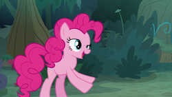 Size: 1920x1080 | Tagged: derp, everfree forest, pinkie pie, safe, screencap, solo, the mean 6