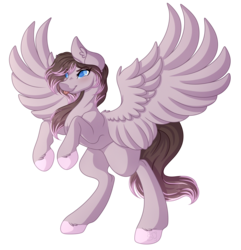 Size: 3954x4110 | Tagged: artist:amazing-artsong, colored hooves, female, mare, oc, oc:carnation sunset, oc only, pegasus, pony, rearing, safe, simple background, smiling, solo, transparent background