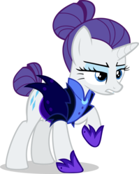 Size: 5000x6291 | Tagged: absurd res, alternate timeline, artist:twilirity, female, mare, night maid rarity, nightmare takeover timeline, pony, rarity, safe, simple background, solo, transparent background, unicorn, vector