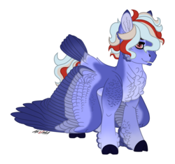 Size: 3333x3128 | Tagged: alternate hair color, alternate hairstyle, alternate universe, alternate version, alternative color, bird, cloven hooves, fangs, feather, fur, oc, oc:hellfire, red eyes, safe, split hooves