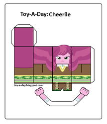 Size: 600x699 | Tagged: artist:grapefruitface1, arts and crafts, cheerilee, craft, equestria girls, misspelling, papercraft, printable, safe, toy a day, updated