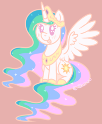 Size: 353x429 | Tagged: alicorn, artist:shiiazu, blep, blushing, chibi, crown, cute, cutelestia, female, hoof shoes, jewelry, mare, peytral, pony, princess celestia, regalia, safe, silly, sitting, solo, tongue out