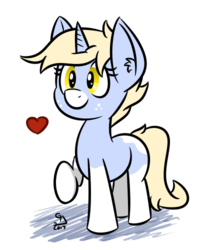 Size: 400x500 | Tagged: artist:glimglam, cute, ear fluff, heart, nootabetes, oc, ocbetes, oc:nootaz, oc only, safe, simple background, socks (coat marking), solo, transparent background, unicorn