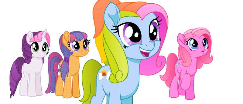 1967842 Safe Artist Elementbases Artist Toybonnie54320 Pinkie Pie Pinkie Pie G3 Rainbow Dash Rainbow Dash G3 Scootaloo Scootaloo G3 Sweetie Belle Sweetie Belle G3 Earth Pony Pony Unicorn My Little Pony The Movie 2 canon lahirien 124 3 hearth's warming bg ponies' cutie marks: little pony