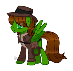 Size: 1057x1018 | Tagged: safe, artist:sugaryicecreammlp, oc, oc:swiftgaia, pegasus, pony, clothes, hat, male, rope, simple background, solo, stallion, transparent background