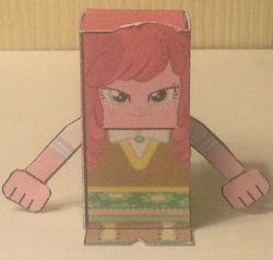 Size: 1272x1209 | Tagged: artist:grapefruitface1, cheerilee, craft, equestria girls, irl, papercraft, photo, photography, safe, solo, toy, toy a day