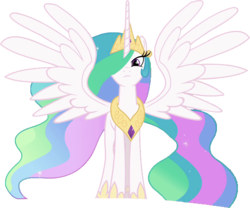 Size: 1029x855 | Tagged: 1000 hours in gimp, alicorn, edit, edited screencap, equestria girls, equestria girls series, ethereal mane, female, forgotten friendship, hair over one eye, hoof shoes, majestic, mare, not a vector, pony, princess celestia, regal, safe, screencap, simple background, solo, spread wings, starry mane, transparent background, wings